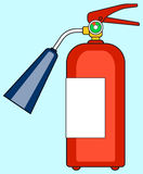 Fire extinguisher icon. Illustration of the fire extinguisher icon Stock Photography