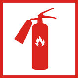 Fire extinguisher icon isolated on background. Vector illustration. Stock Photography