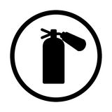 Fire extinguisher icon, isolated, on white  background. Stock Photography