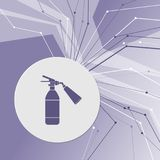 Fire extinguisher Icon on purple abstract modern background. The lines in all directions. With room for your advertising. Illustration Stock Images