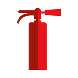 Fire extinguisher icon. Simple flat design fire extinguisher icon  illustration Royalty Free Stock Photos