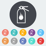 Fire extinguisher icon. Fire extinguisher. Single flat icon on the circle. Vector illustration Royalty Free Stock Photo