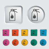 Fire extinguisher icon. Vector illustration Stock Images