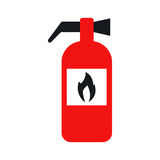 Fire extinguisher icon vector. Fire extinguisher. Icon vector illustration eps 10 Stock Photo