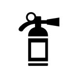 Fire extinguisher icon. Vector illustration. Fire extinguisher icon isolated on the white background. Silhouette flat design vector illustration Royalty Free Stock Photos