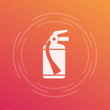Fire extinguisher icon, vector symbol Stock Photography