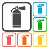 Fire extinguisher icons set. Vector icon Stock Photography