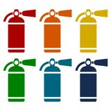 Fire extinguisher icons set. Vector icon Royalty Free Stock Image