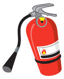 Fire Extinguisher. An Illustration of a red fire extinguisher Royalty Free Stock Photo
