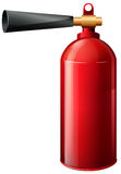 A fire extinguisher. Illustration of a fire extinguisher on a white background Stock Photo