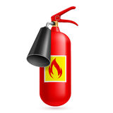 Fire extinguisher. Illustration of fire extinguisher  on white background. Fire safety Royalty Free Stock Image