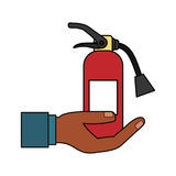 Fire extinguisher industrial security. Icon vector illustration graphic design Royalty Free Stock Images