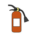 Fire extinguisher industrial security. Icon vector illustration graphic design Royalty Free Stock Photo