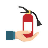 Fire extinguisher industrial security. Icon vector illustration graphic design Royalty Free Stock Photography