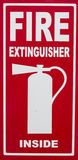 Fire Extinguisher Inside Sign Royalty Free Stock Image
