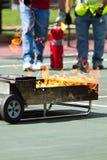 Fire extinguisher instruction Stock Image