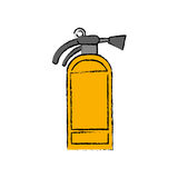 Fire extinguisher isolated. Icon  illustration graphic design Royalty Free Stock Photos