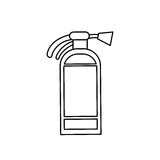 Fire extinguisher isolated. Icon  illustration graphic design Stock Photos