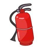 Fire extinguisher isolated  illustration. On white background Stock Images