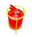 Fire extinguisher isolated on white Royalty Free Stock Image