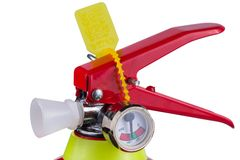 Fire extinguisher isolated on white background Royalty Free Stock Photography