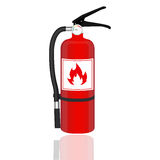 Fire extinguisher isolated on white background. Vector illustration. Stock Images