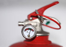 Fire extinguisher meter Stock Photography