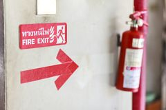 Fire Extinguisher stock photo