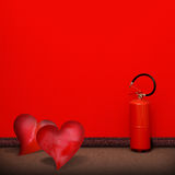 Fire extinguisher of passion Stock Photo