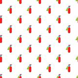 Fire extinguisher pattern, cartoon style. Fire extinguisher pattern. Cartoon illustration of fire extinguisher vector pattern for web Stock Image