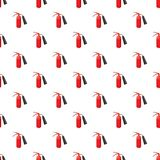 Fire extinguisher pattern. Seamless repeat in cartoon style vector illustration Royalty Free Stock Images