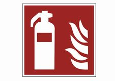 Fire extinguisher protection signs - fire extinguisher  pictogra. M icon Royalty Free Stock Image