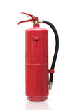 Fire extinguisher red tank isolated white background. Royalty Free Stock Image