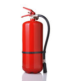Fire extinguisher. Red fire extinguisher on white background stock images