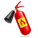 Fire extinguisher. Red fire-extinguisher  on white background. Fire safety Royalty Free Stock Photo