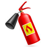 Fire extinguisher. Red fire extinguisher  on white background. Fire safety Royalty Free Stock Photos
