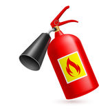 Fire extinguisher. Red fire extinguisher on white background. Fire safety Stock Image