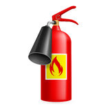 Fire extinguisher. Red fire extinguisher  on white. Fire safety Stock Photos