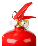 Fire extinguisher's head. Isolated on white background Stock Images