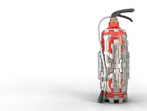 Fire extinguisher, sci-fi concept. High quality render of futuristic look Royalty Free Stock Photography