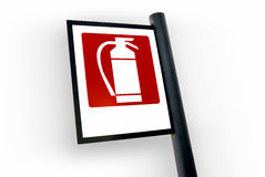 Fire extinguisher sign (1). Fire extinguisher sign on white background royalty free stock photography