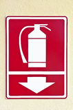 Fire extinguisher sign. Royalty Free Stock Image