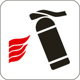Fire extinguisher sign. Vector illustration: fire extinguisher sign Royalty Free Stock Images