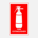 Fire extinguisher sign, security. Fire-extinguishing fully   image Stock Photo