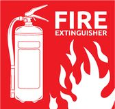 Fire extinguisher sign. Vector illustration of the Fire extinguisher sign Royalty Free Stock Photo