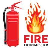 Fire extinguisher sign Royalty Free Stock Image