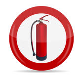 Fire Extinguisher Sign Vector Illustration. Isolated. EPS10 Royalty Free Stock Images