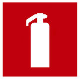 Fire extinguisher symbol Stock Photography