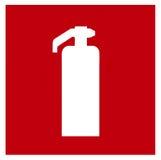 Fire extinguisher symbol Stock Photography