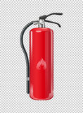 Fire extinguisher on transparent background. Illustration Royalty Free Stock Image